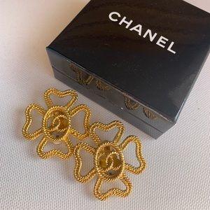 Vintage Chanel Clip On Camilla Earrings w/ Box